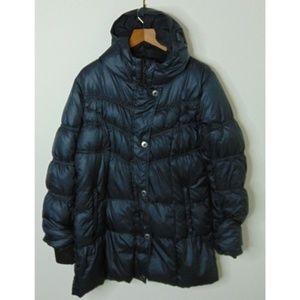 Prana L Full Zip Puffer Parka Coat Puffer Black